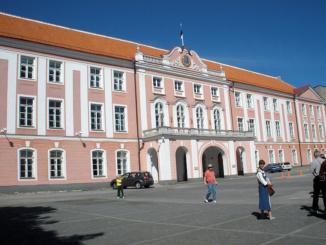 Toompea Castle Riigikogu unicameral parliament of Estonia.