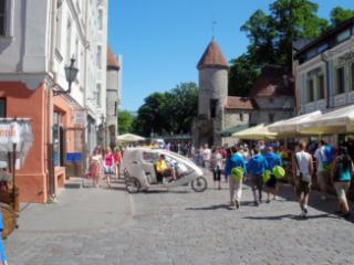 Looking towards Viru Gate from Tallinn Old Town.