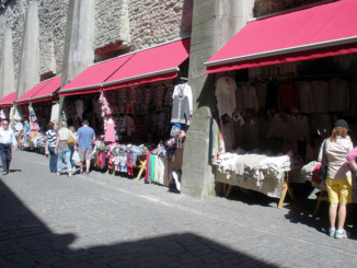 Knit Market adjacent to Town Wall.