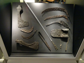 Typical Viking hand tools as used in the deforestation of Iceland