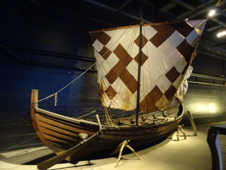 Reconstruction of Krampmacken Viking sailing ship.