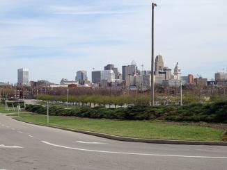 Cincinnati Skyline from Cincinnati Museum Center.