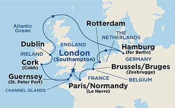 11 Day Caribbean Princess European Capitals Cruise Tour