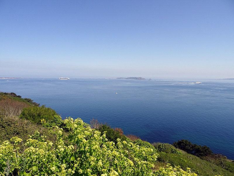 Overlooking Caribbean Princess and Sark Island