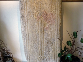Slab incised cross was boundary marker of church lands