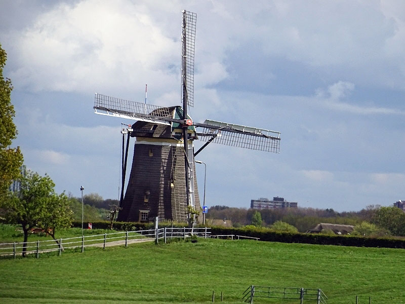 A Traditional Old-Style Windmill