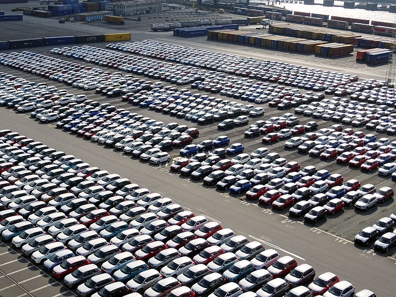 New Cars in the port of Zeebrugge