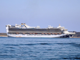 Caribbean Princess in Port of Guernsey