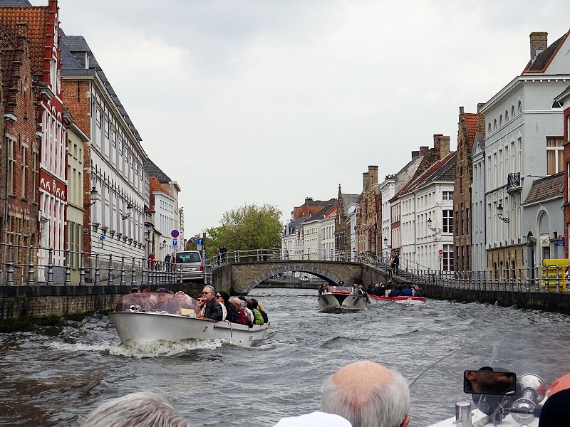 Canal View showing Neighborhoods of Brugge