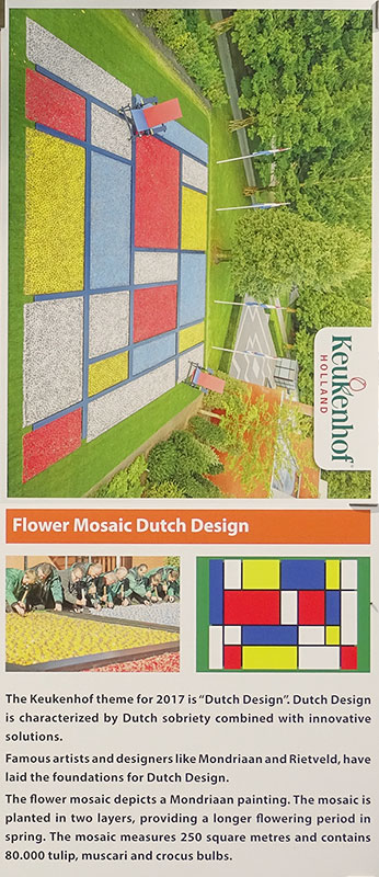 2017 Dutch Design Flower Mosaic