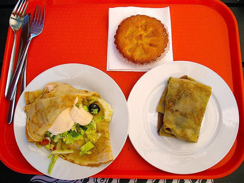 Russian Blini and other foods at Tea Spoon