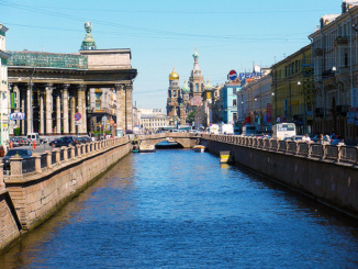 Looking back on the Griboedov Canal