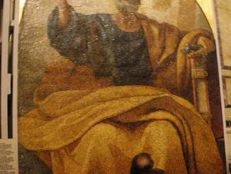 Enormous wall mosaic