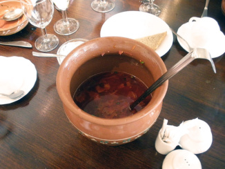 Russian national dish Borscht soup