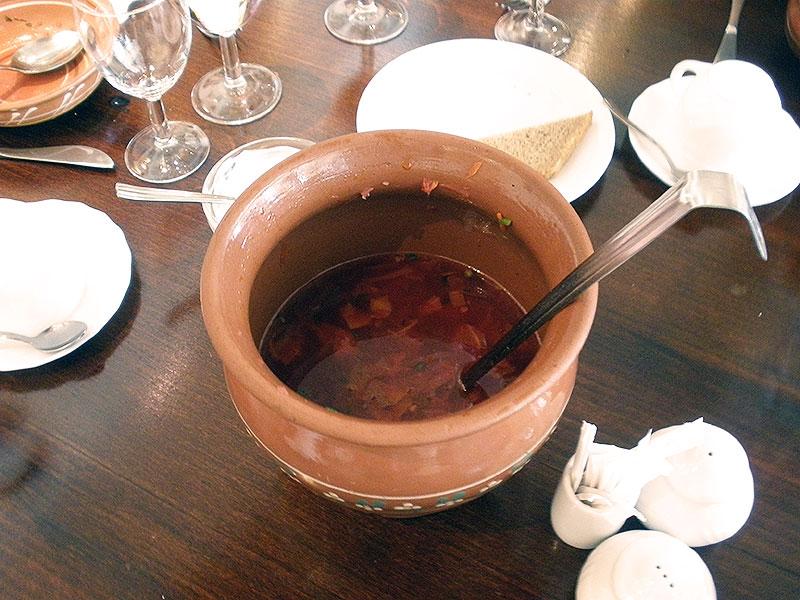 Russian national dish Borscht soup