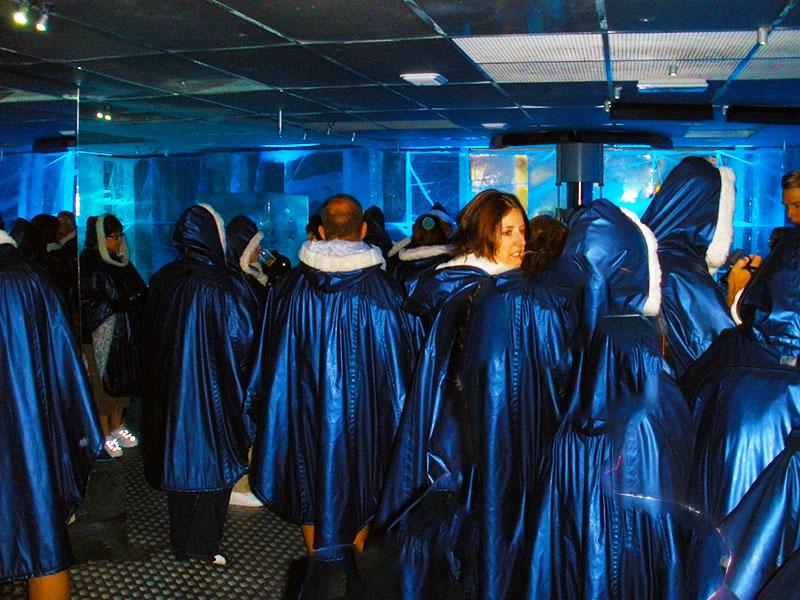 Tour Group preparing to enter ICEBAR
