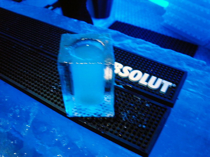 Absolut in Ice Glass