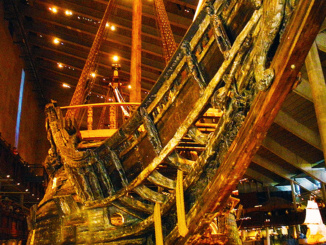 Under Side Bow of the warship Vasa