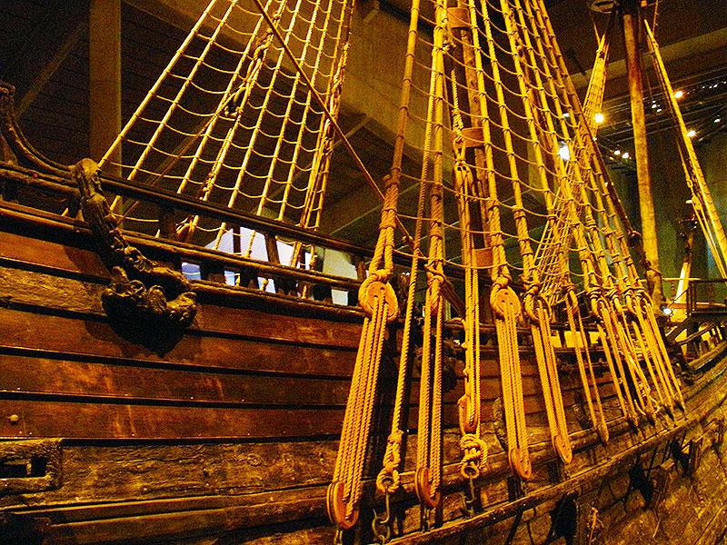 Mast Ropes alongside the warship Vasa