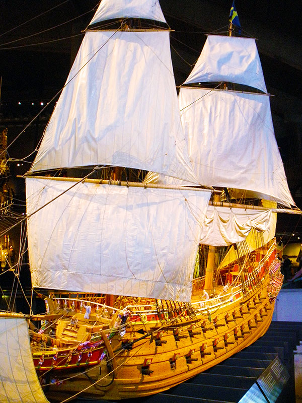 Scale model of the warship Vasa