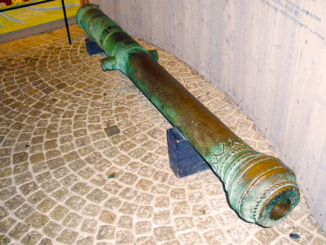 Salvaged cannon of the warship Vasa