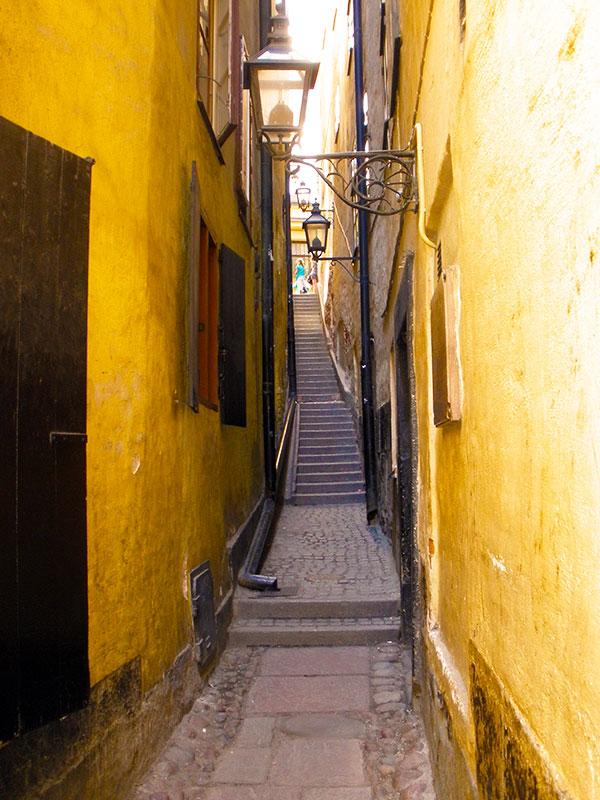 Skinniest street in Stockholm