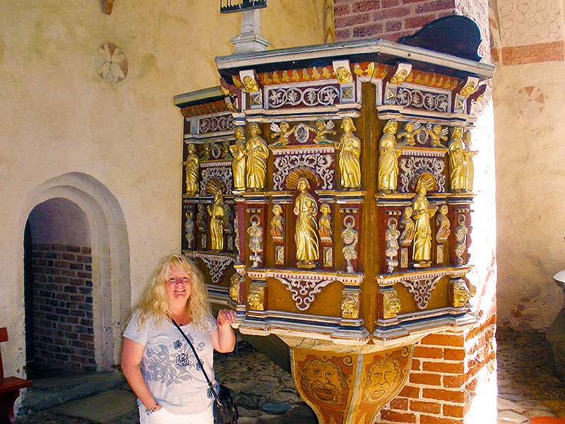 Church of St. Sigfrid 17th Century Pulpit