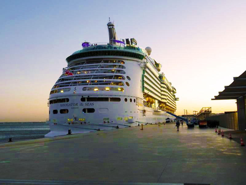 Navigator of the Seas in port of Lisbon