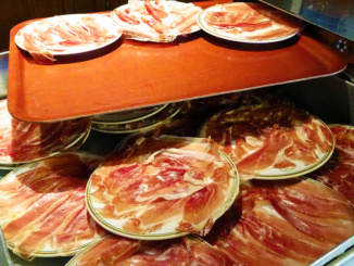 Prosciutto waiting to be served