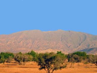 Moroccan landscape.