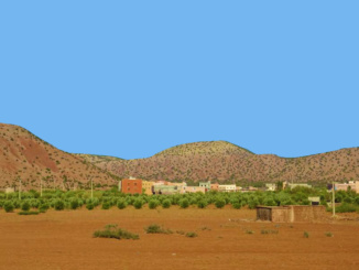 Typical Berber village outside Agadir.