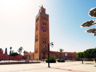 Koutoubia Mosque and Minaret.