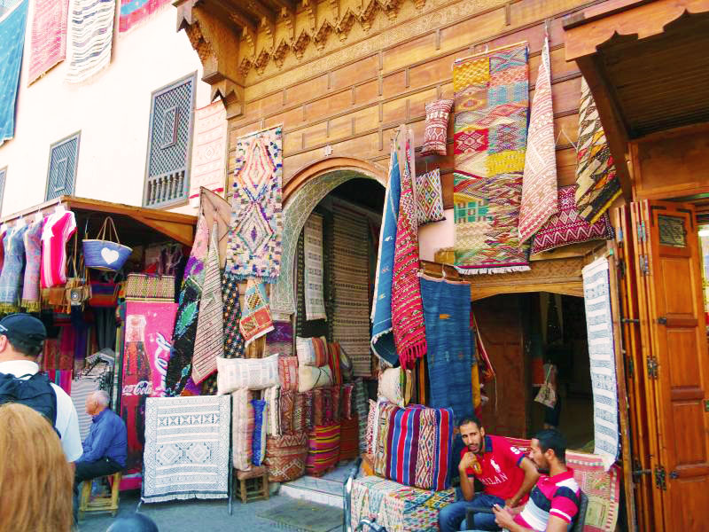 Entrance to the fabrics, pottery and spice Souk.