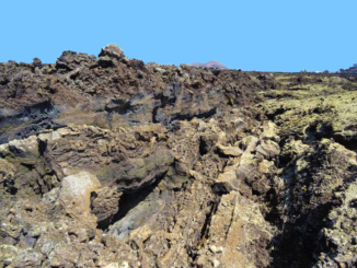 Lava and lava canals.