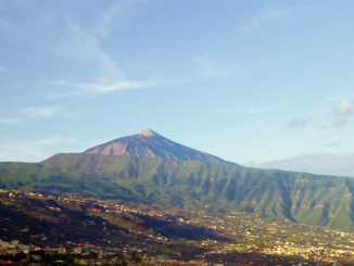 The highest volcano in Tenerife, Mount Teide.