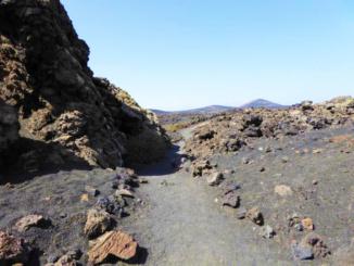 Circular footpath for El Camino de la Caldera de Los Cuervos.