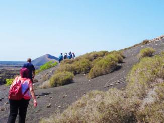 Ascending the plateau.
