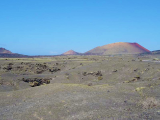 Timanfaya central volcanic alignment.