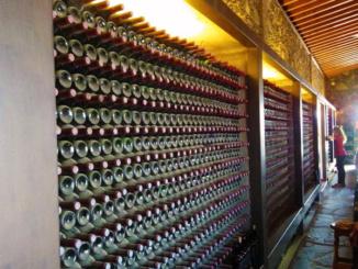 Wine racks at Bodegas Rubicon.