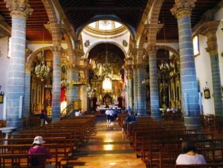 Inside the beautiful basilica.