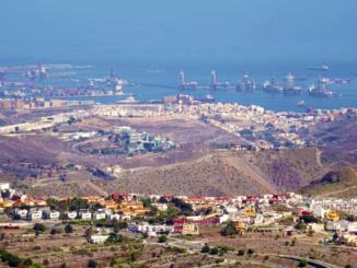 View of Las Palmas Gran Canaria Sea Port.