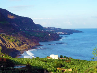 Overlook of Tenerife's northern coastline.