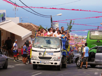 Locals celebrate Our Lady of the Rosary festival.