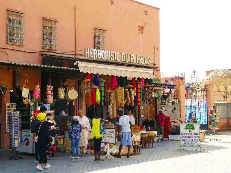 Street textile vendor.