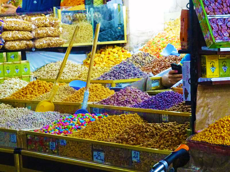 Nut and candy vendor.