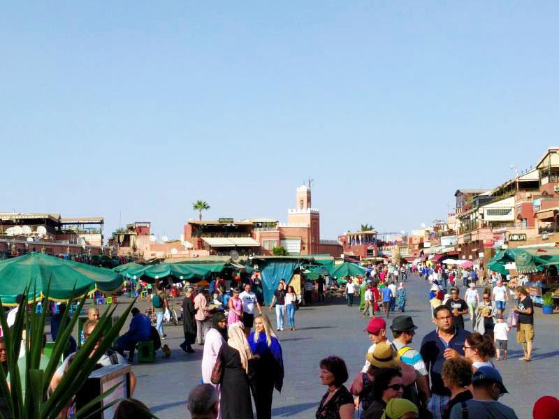 The open air market.