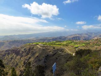 Golf course near the Caldera de Bandama Volcanic Crater.