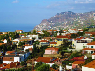 The red tile roofs of Funchal.