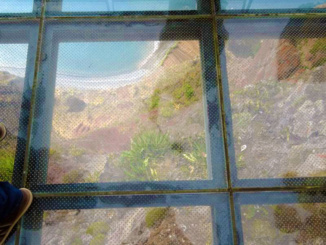 Looking down from the Cabo Girao Skywalk.