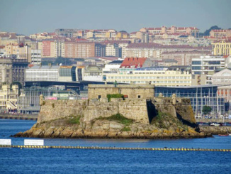 Castillo de San Anton from the Port of La Coruna.